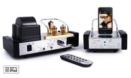 FATMAN iTUBE MkII VALVE AMPLIFIER AND iPOD DOCK
