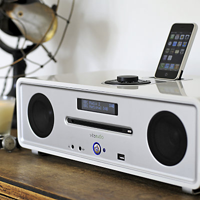 VITA R4 DAB AUDIO IPOD INTEGRATED MUSIC SYSTEM, DREAM WHITE LACQ