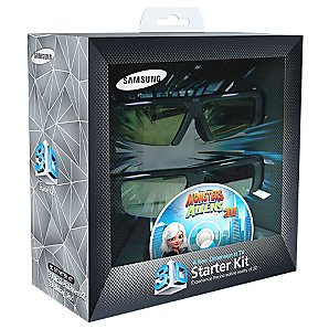 SAMSUNG SSG-P2100T X 2 3D GLASSES AND X1 3D BLU RAY STARTER PACK