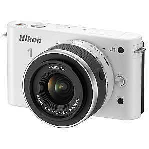NIKON 1 J1 COMPACT SYSTEM CAMERA WITH 10-30MM LENS IN WHITE