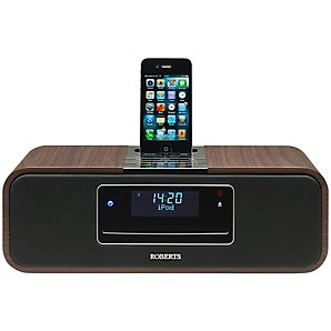 ROBERTS SOUND 100 DAB/FM/CD iPod Dock Radio, Walnut