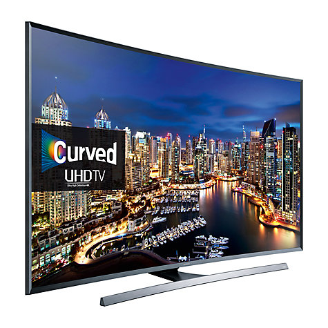 "Samsung UE48JU7500 Curved LED 4K Ultra HD 3D Smart TV, 48"" with"
