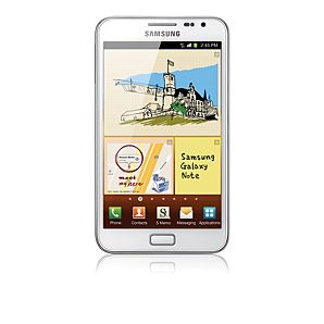 SAMSUNG GALAXY NOTE MOBILE PHONE  WHITE