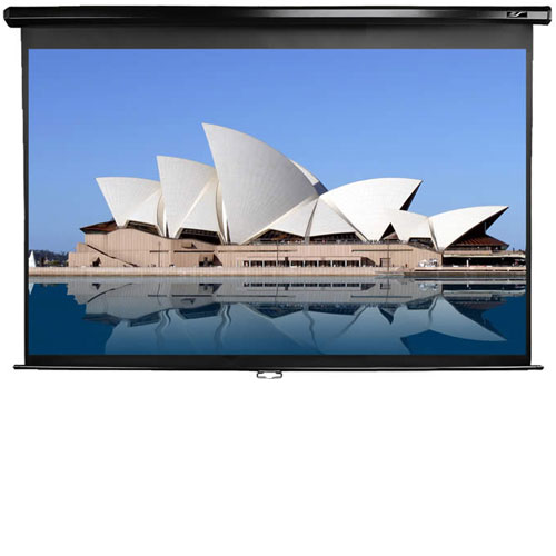 ELITE M120UWV2 MANUAL PULL DOWN PROJECTOR SCREEN BLACK