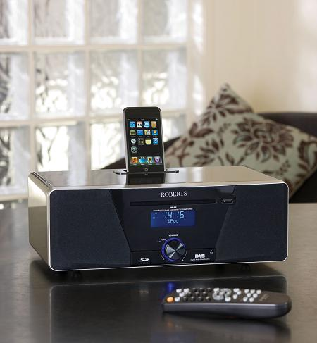 ROBERTS SOUND 53 DAB/CD/FM/DIGITAL SOUND SYSTEM WITH IPOD DOCK