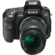 SONY A (ALPHA) DSLR-A200K - DIGITAL CAMERA - SLR - 10.2 MPIX - S