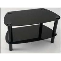 Vivanco TV Stand 2 Tier Glass Stand Piano Black Finish