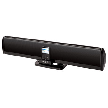 ELONEX I32 SOUNDBAR IPOD DOCK, MP3 & RADIO WITH INTEGRATED SUBWO